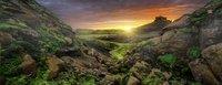 Ravensburger panoramapuzzel Zon over IJsland -Vooraanzicht