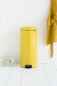 Brabantia Poubelle à pédale NewIcon daisy yellow 30 l-Image 1