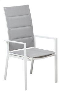 Jati & Kebon Chaise de jardin réglable Aviara gris clair/blanc