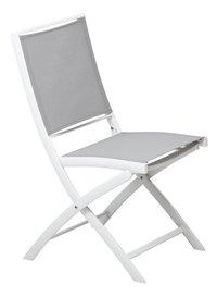 Ocean Chaise pliante Doka gris clair/blanc