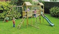 BnB Wood Complete schommelset Tildonk met groene glijbaan