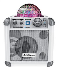 iDance haut-parleur Bluetooth Party Cube BC10 blanc