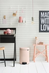 Brabantia Pedaalemmer NewIcon Clay Pink 12 l-Afbeelding 4