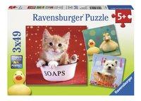 Ravensburger Puzzel 3-in-1 Grappige dieren-Vooraanzicht
