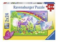 Ravensburger puzzle 2 en 1 Chevaux arc-en-ciel
