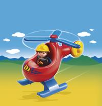 Playmobil 1.2.3 6789 Brandweerhelikopter-Afbeelding 1