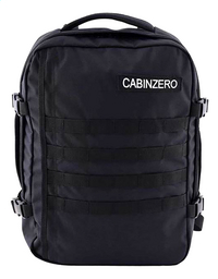 CabinZero reistas Military Absolute Black 42 cm-Vooraanzicht