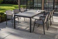 Ocean table de jardin Jura Charcoal L 220 x Lg 100 cm-Image 1