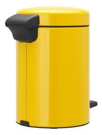 Brabantia Pedaalemmer NewIcon Daisy Yellow 3 l-Achteraanzicht