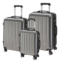 Check.In Harde trolleyset London Special Spinner carbon silver