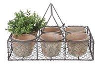Esschert panier en métal avec 6 pots