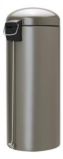 Brabantia Poubelle à pédale Retro Bin platinum 30 l-Côté gauche
