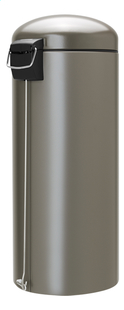 Brabantia Pedaalemmer Retro Bin platinum 30 l-Linkerzijde