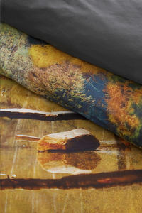 Beddinghouse Dekbedovertrek Autumn waters ocre katoen 200 x 220 cm-Artikeldetail