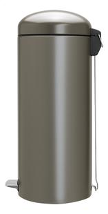 Brabantia Poubelle à pédale Retro Bin platinum 30 l-Côté droit