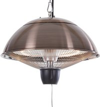 Sunred Elektrische hangende terrasverwarmer Mushroom 1500 W koper-Vooraanzicht