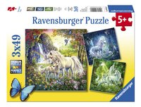 Ravensburger Puzzel 3-in-1 Mooie eenhoorns-Vooraanzicht