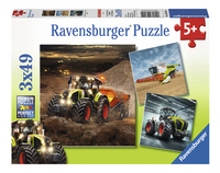 Ravensburger Puzzel 3-in-1 CLAAS Axion, Lexion Xerion