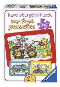 Ravensburger puzzle 3 en 1 My First Excavateur, tracteur et chargeur à bascule