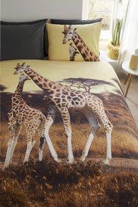 Beddinghouse Housse de couette Masai giraffe ocre coton 240 x 220 cm-Image 2