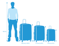 Samsonite Harde reistrolley Aeris Upright vivid blue 65 cm-Artikeldetail
