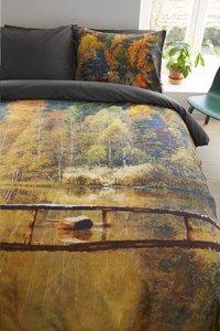 Beddinghouse Dekbedovertrek Autumn waters ocre katoen 200 x 220 cm-Afbeelding 2