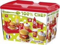 Écoiffier fastfoodset 100% Chef-Vooraanzicht