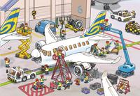 Ravensburger puzzle 2 en 1 Dans l'aéroport-Détail de l'article