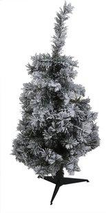 Kerstboom groen besneeuwd 90 cm
