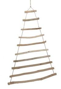 Kerstboom houten takken H 100 cm