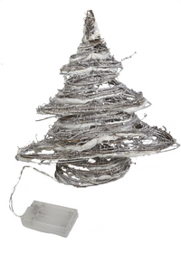 Decoratie met ledverlichting kerstboom warm wit