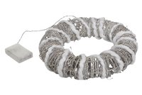 Couronne lumineuse LED blanc chaud