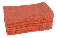Jules Clarysse 6 serviettes d'hôte 30 x 50 cm Pearl Uni rouge corail