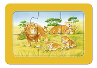 Ravensburger puzzle 3 en 1 My First Singes, éléphants et lions-Avant