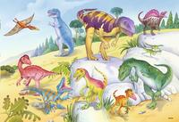 Ravensburger puzzle 2 en 1 Dinosaures multicolores-Avant