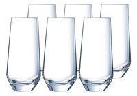 Eclat Cristal d'Arques Paris 6 verres à eau Ultime 45 cl-Avant