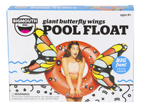 BigMouth grote zwemband Butterfly Wings Red-Vooraanzicht