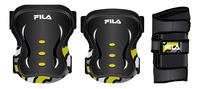 Fila beschermset 5-8 jaar zwart/geel