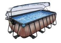 EXIT piscine Wood avec coupole et filtre à sable 4 x 2 m-commercieel beeld