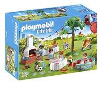 PLAYMOBIL City Life 9272 Famille et barbecue estival-Côté gauche
