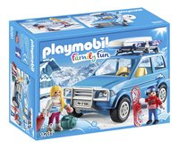PLAYMOBIL Family Fun 9281 4x4 met dakkoffer-Linkerzijde