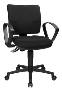 Topstar chaise de bureau avec accoudoirs U50 noir-Côté gauche