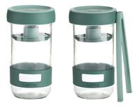 Lékué 2 glazen flessen Pickles Kit 70 cl voor het fermenteren van groenten-commercieel beeld