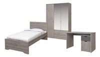 3-delige kamer Tempo met bed + bureau + 3d kast-Vooraanzicht