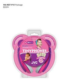JVC casque Tinyphones HA-KD7-P rose