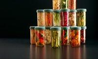 Lékué 2 glazen flessen Pickles Kit 70 cl voor het fermenteren van groenten-Afbeelding 2
