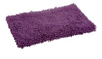 Clarysse tapis de bain Pearl Cotton Twist aubergine 50 x 90 cm-Avant