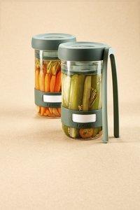 Lékué 2 glazen flessen Pickles Kit 70 cl voor het fermenteren van groenten-Afbeelding 3