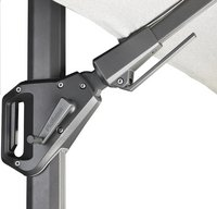 Platinum parasol suspendu Challenger T2 aluminium 3 x 3 m Blanc-Détail de l'article
