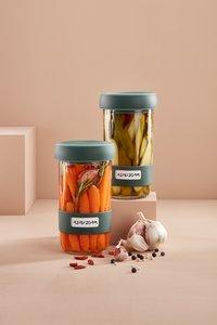 Lékué 2 glazen flessen Pickles Kit 70 cl voor het fermenteren van groenten-Afbeelding 4